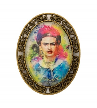 Broche Ovalado Frida Colores