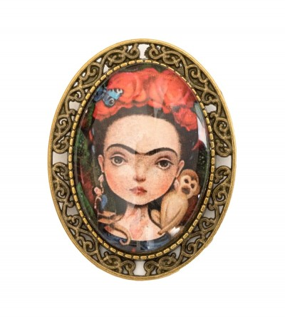 Broche Ovalado Frida Monkey