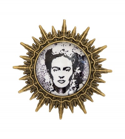 Broche Sol Frida Coffee