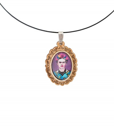 Colgante Madera Frida Purple